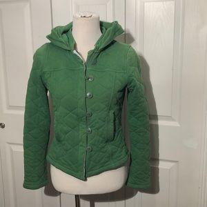 Allihop Quilted Green Coat